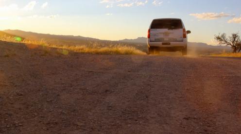 CBP van in Arizona desert