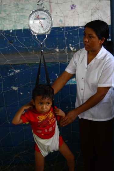 Like half of Guatemalan children, malnourishment has left Jose underweight. At almost 3 years old, he is 6lb underweight.