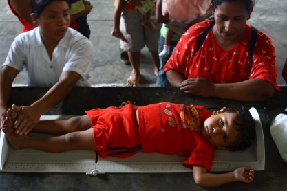 Like half of Guatemalan children, Jose is physically stunted due to malnutrition. At almost 3 years old, he is 10cm shorted than he should be.