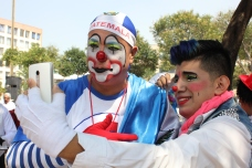 Clowns come to Mexico from 14 countries in Latin America to take part in the annual convention. Alvaro Patzan, 'Yompiss', travelled from Guatemala to join the festivities for the first time.