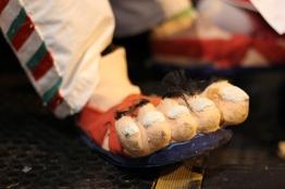 Mexican clown feet.