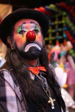 Many of the clowns are upset to be associated with the wave of 'killer clowns' around North America and the UK. They told Al Jazeera they hope people can tell the difference because they wear professional make up rather than the marks being worn by people dressing as 'killers clowns'.