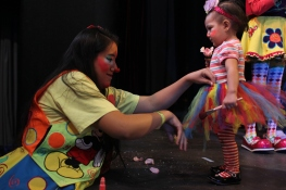 Many of the clowns have family members in the same profession and brought their clown-clad children along.